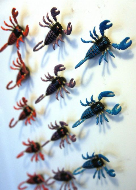 SCORPION FRIDGE MAGNETS - 3D WIGGLY REALISTIC COLOURFUL FRIDGE MAGNETS